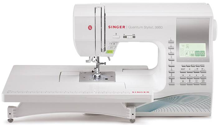 Singer quantaum stylist 9960 computerized sewing machine