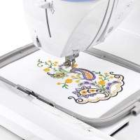 Brother Designio DZ820E Embroidery Machine with hoop attached