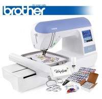 Brother PE770 embroidery machine with bonus package