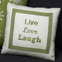 Singer S10 Studio embroidered pillow